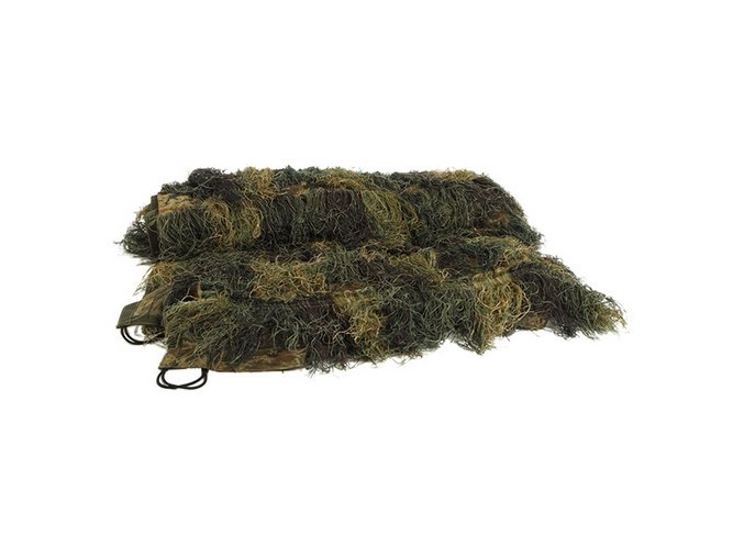 Sieť so strapcami Ghillie SUIT 100x140cm WOODLAND
