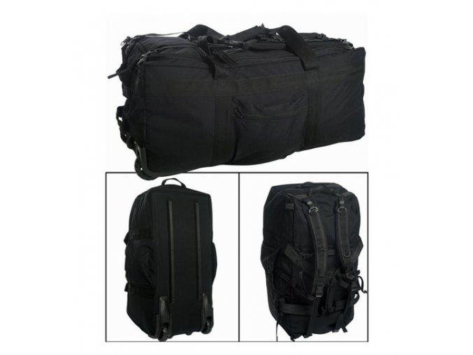 miltec kampftrageseesack mit rollen schwarz