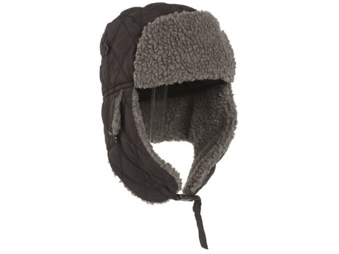 eng pl BLACK WINTER CAP WITH FAUX FUR 4093 1