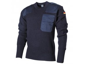 Vojenský sveter - pulóver BW Acryl Mil-Tec - modrý