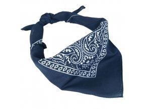 Šatka Western Bandana - modrá
