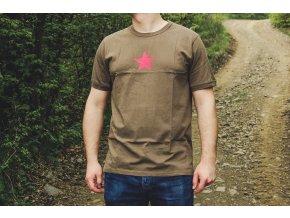 Tričko krátky rukáv s potlačou RED STAR OLIV