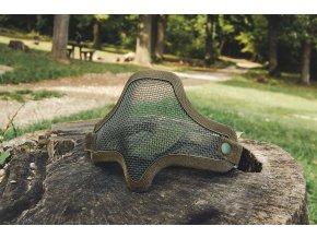 Mil-Tec OD Airsoft maska na tvár, olivová