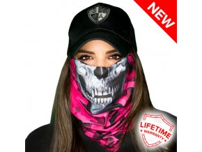 PINK MILITARY CAMO SKULL