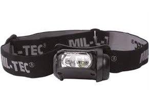 čierna LED čelová baterka