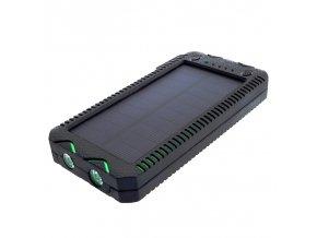 Power Banka 12000mAh (44,4Wh) so solárnym panelom 1W, výstup: USB 2x 5V, 2A