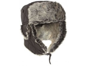 eng pm Black WINTER CAP WITH FAUX FUR 4098 1