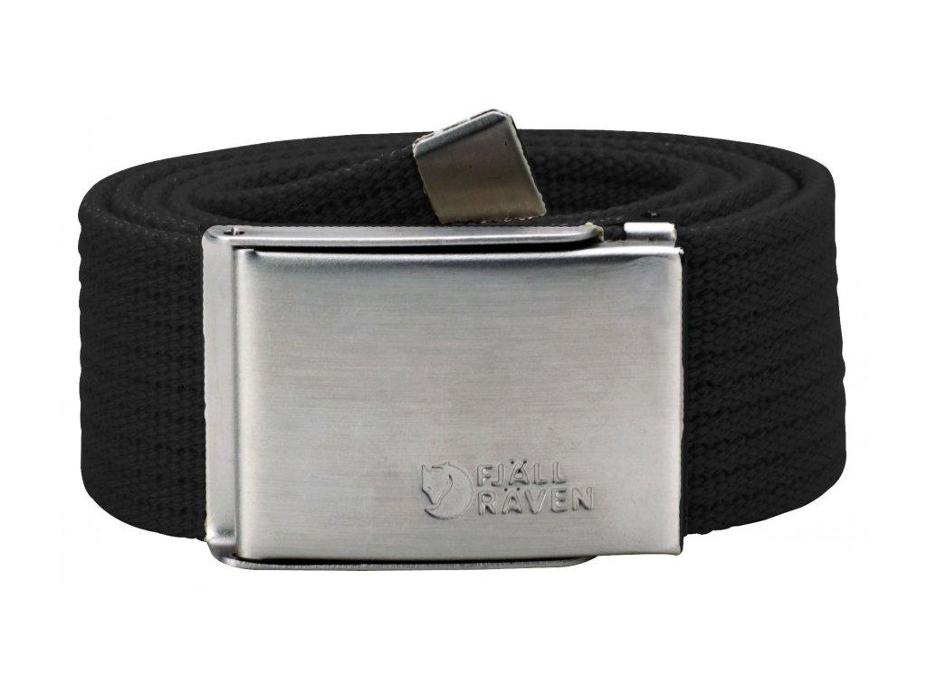 Pásek Canvas Belt Fjällräven - Black