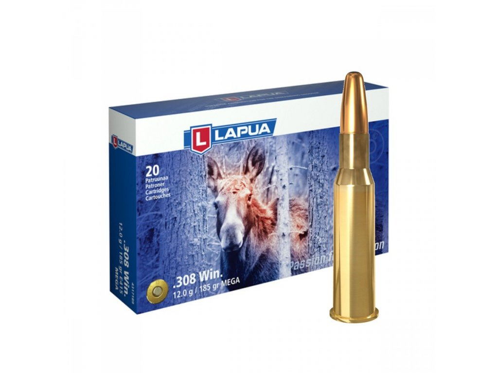 Lapua .308 Win. E415 Mega SP 12 g