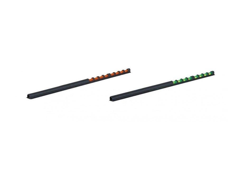 Světlovodná muška na brokovnici 10cm SB 3,0mm, UV zelený