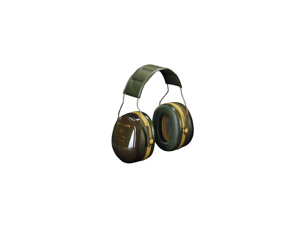 Sluchátka 3M Peltor Optime Bull´s Eye III - vojenská zelená