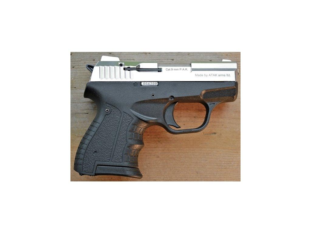 Plynová pistole Zoraki 906 lesklý chrom