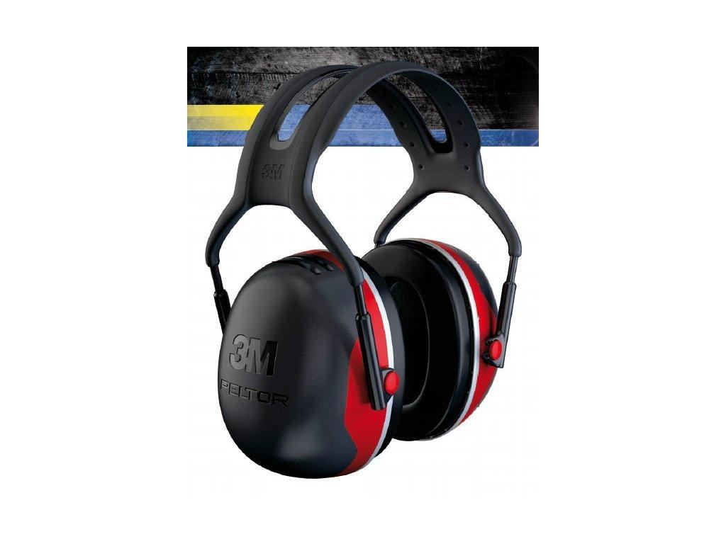 Sluchátka 3M PELTOR X3A červené