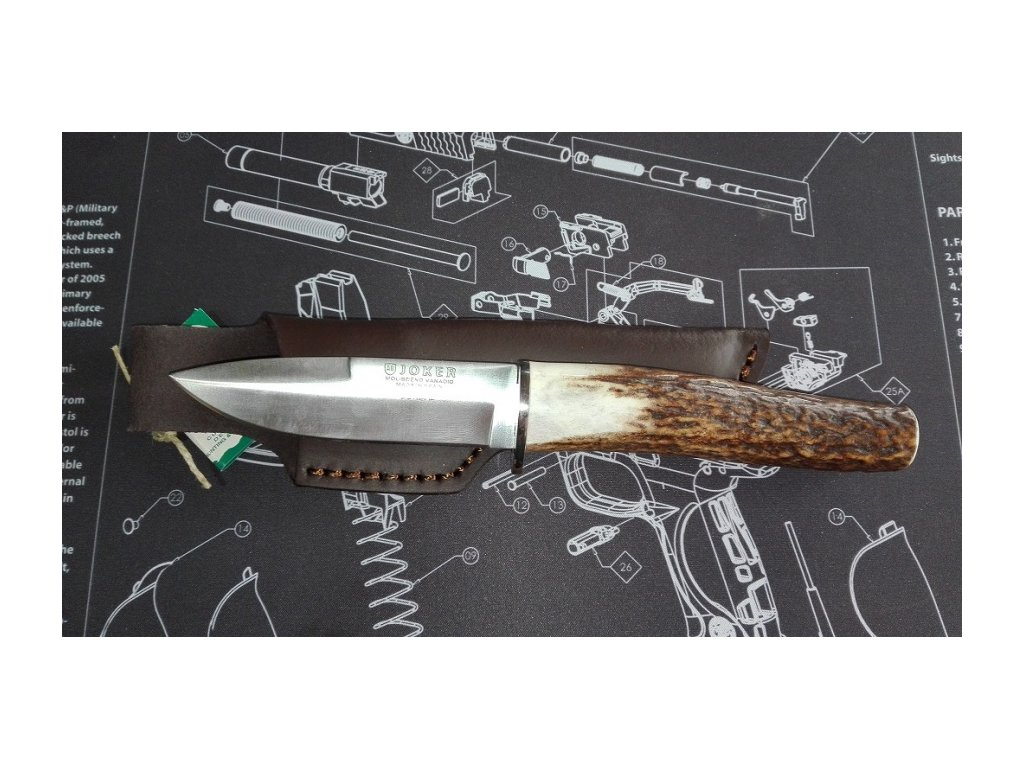 Nůž JOKER CC-69 parohová střenka