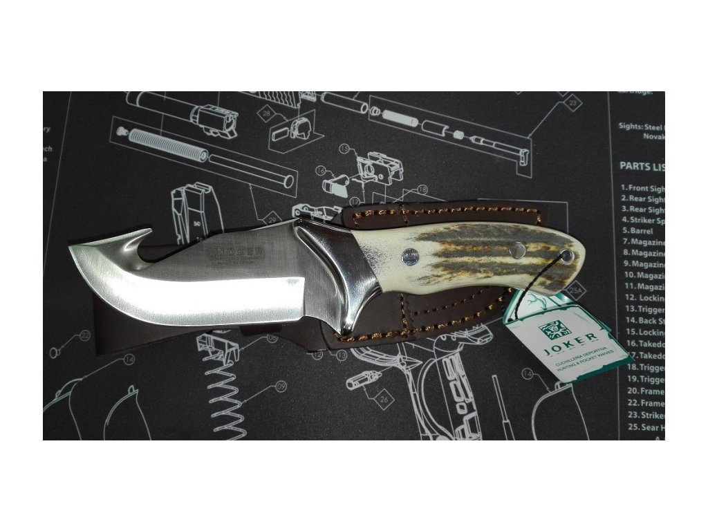 Nůž JOKER CC-05 střenka paroh