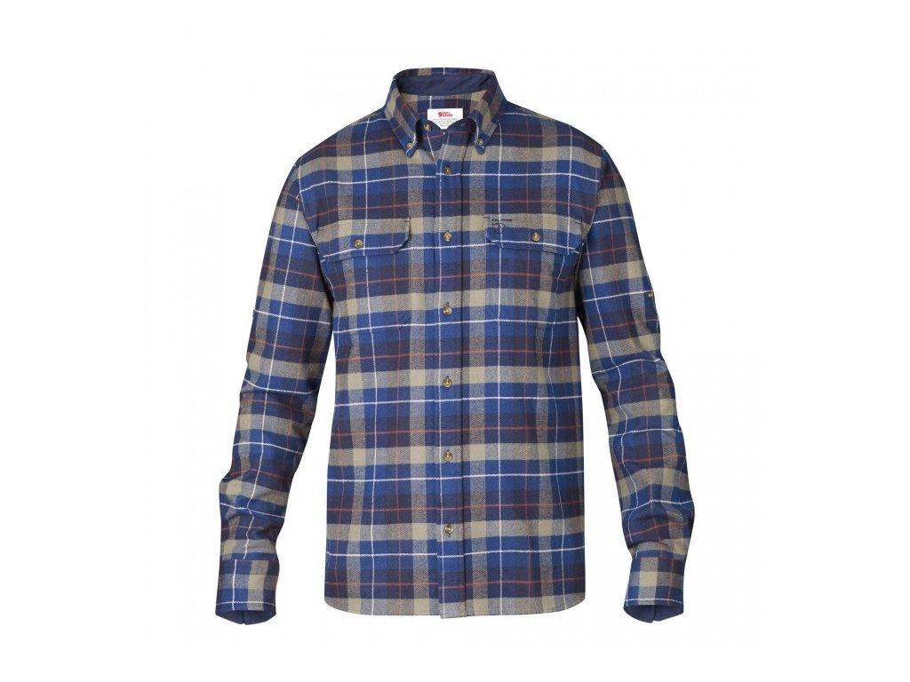 Košile Fjällräven singi heavy flannel shirt - Navy, velikost L