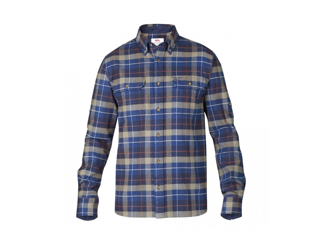 Košile Fjällräven singi heavy flannel shirt - Navy, velikost XXL