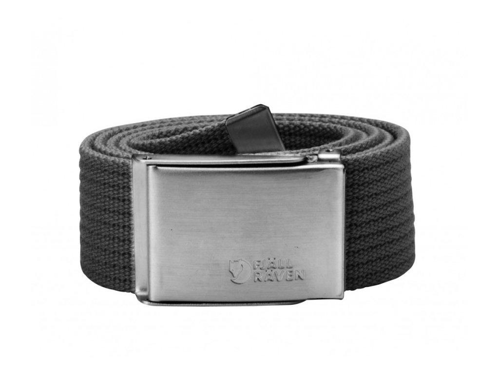 Pásek Canvas Belt Fjällräven - Dark grey