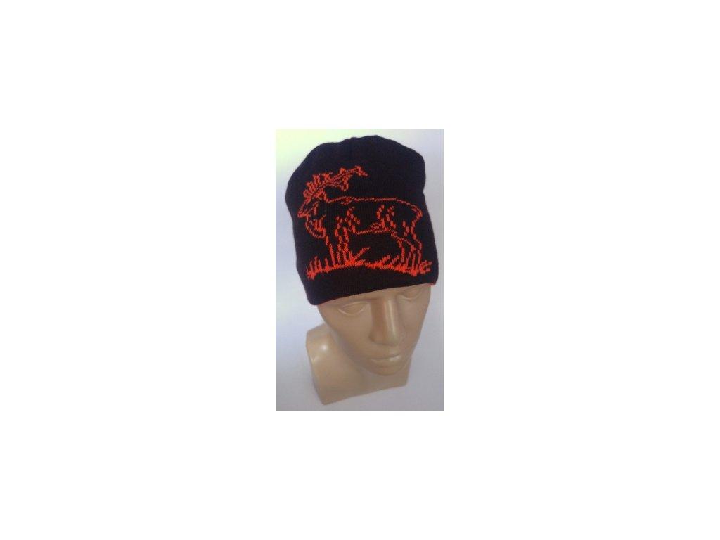 Oboustranná reflexní čepice Jummy - motiv Jelen