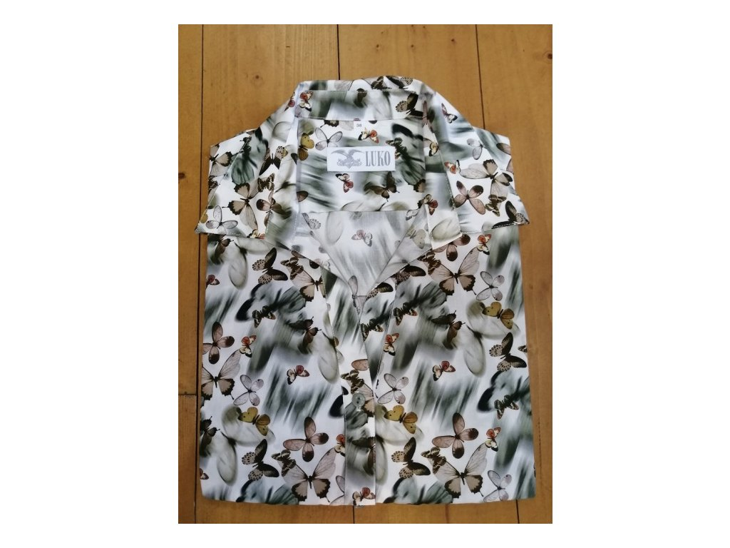 Dámská košile Luko - motiv motýl, velikost 34