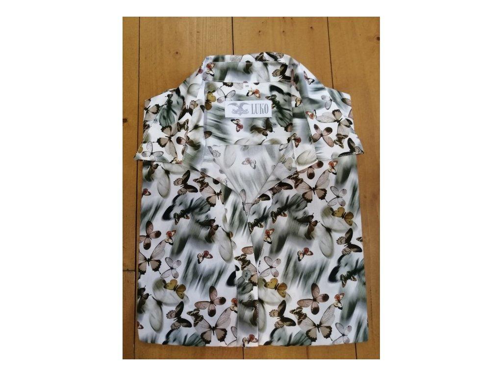 Dámská košile Luko - motiv motýl, velikost 44