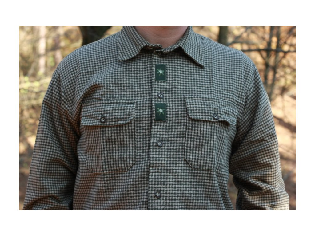 Košile flanelová pánská zelená vel.45