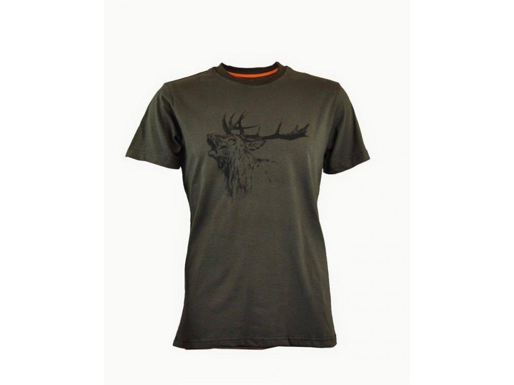 Tričko s potiskem jelen