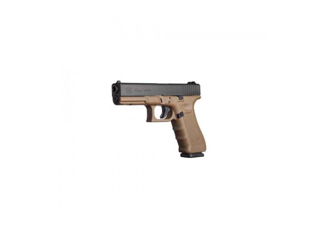 Glock 17 Gen 4, ráže 9mm Luger, barva FDE