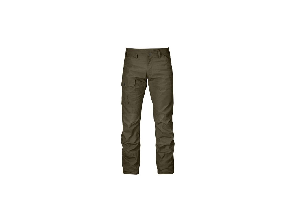 Kalhoty Nils Trousers Fjällräven - Dark Olive vel. 58