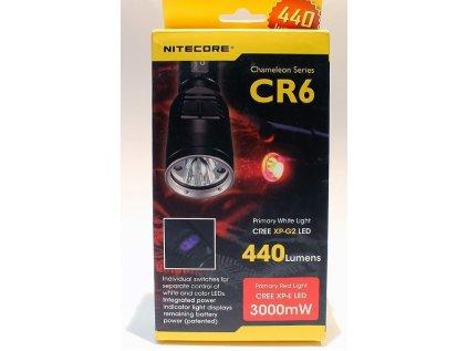 Nitecore CR6 svítilna červená a bílá LED, dvojitá parabola i spínač