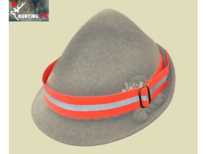 Pásek na klobouk s reflexním pruhem