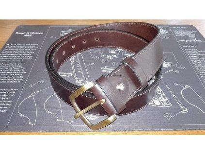 GL kožený opasek s přezkou šíře 4cm