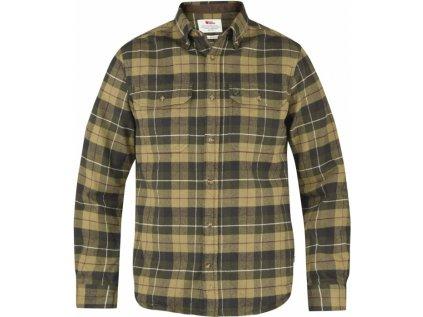 Košile Fjällräven singi heavy flannel shirt - zelená, vel. XL