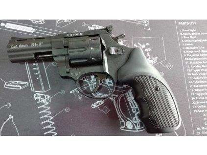 """Flobertkový revolver Zoraki Atak Streamer R1 3"""", cal. 6mm, černá"""