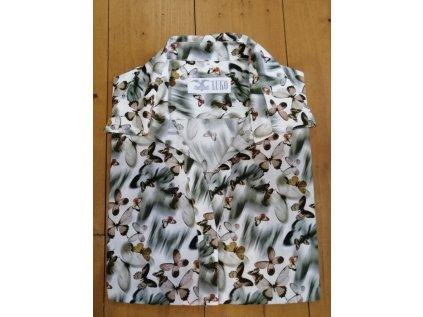 Dámská košile Luko - motiv motýl, velikost 50