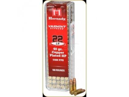 Náboj Hornady .22LR Varmint Express 40GR Copper Plated HP