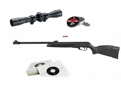 Vzduchovka Gamo Black Bear set r. 4,5mm s puškohledem 4x32WR