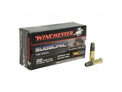 Winchester .22LR Subsonic HP Max 42gr