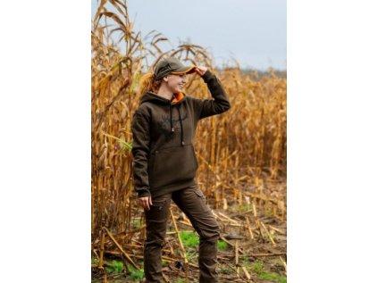 Čepice kšiltovka - oranžový reflex pruh