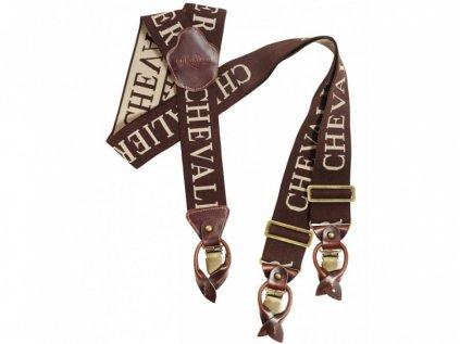 Chevelir Kšandy Chevalier Suspenders BrownBeige