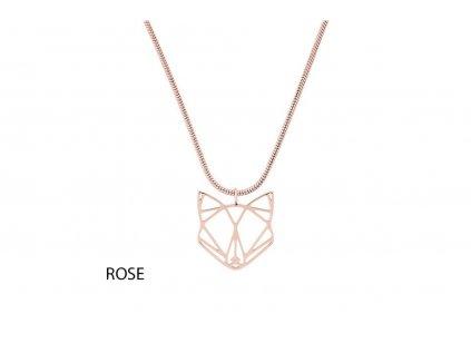 fox steel pendant rose