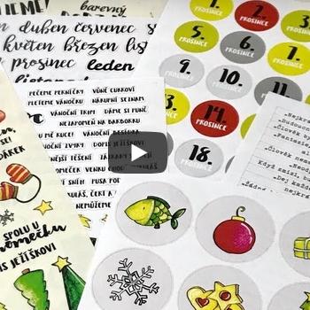 Hurá Papír samolepky... jaké jsou... video od Katky Dachovské