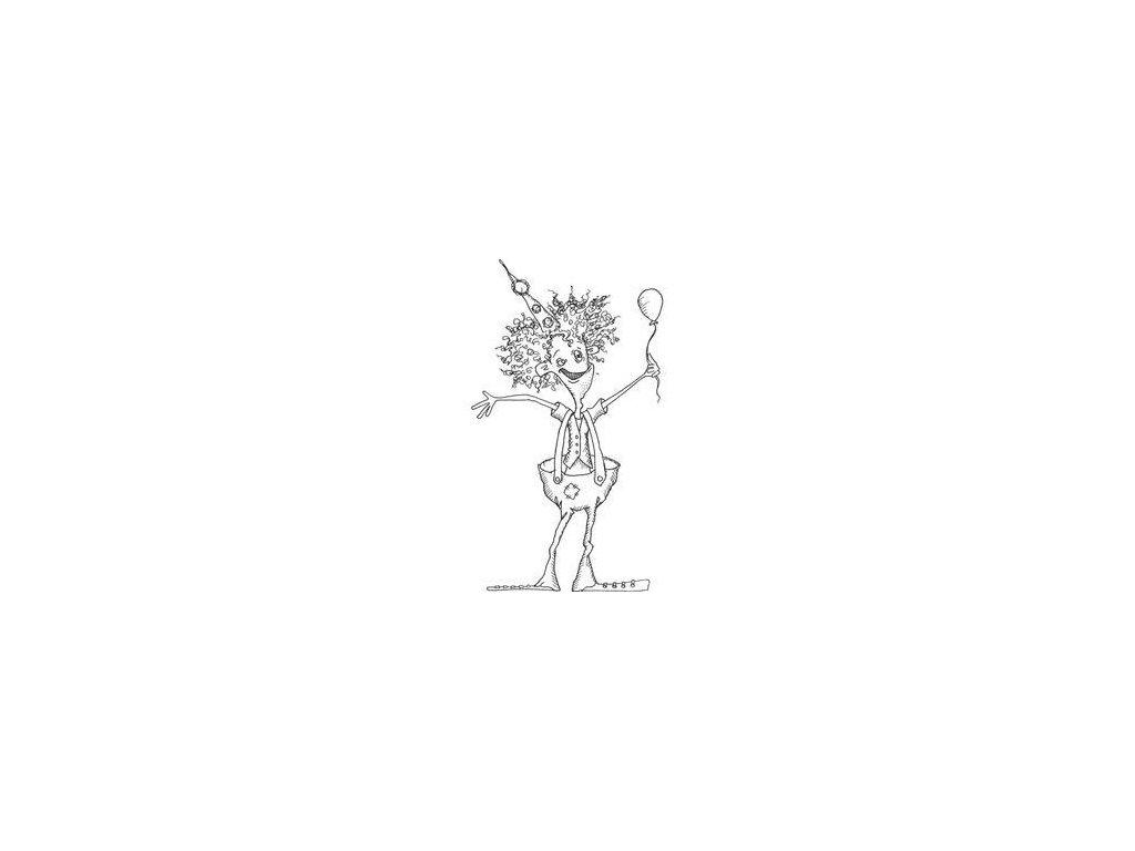 Joggles - CLARENCE B BRITCHES - cling gumové razítko