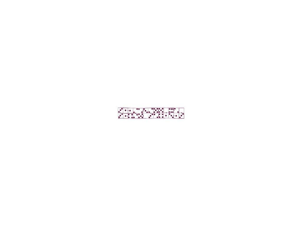 Aladine - maxi domino - gumové razítko