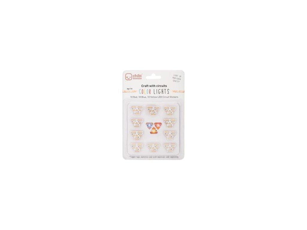 Chibi Tronics - RYB LED MEGA PACK - světýlka do přáníček, 30 ks