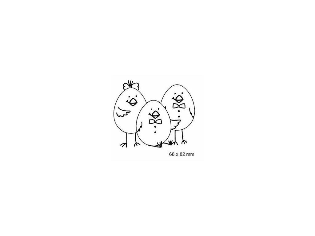 Broučkova razítka - 3 KUŘATA - cling gumové razítko