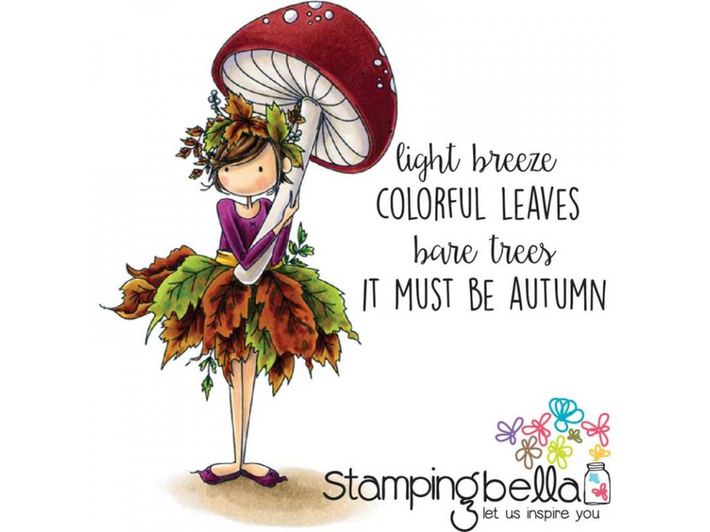 stamping bella cling rubber stamp tiny townie autumn loves autumn