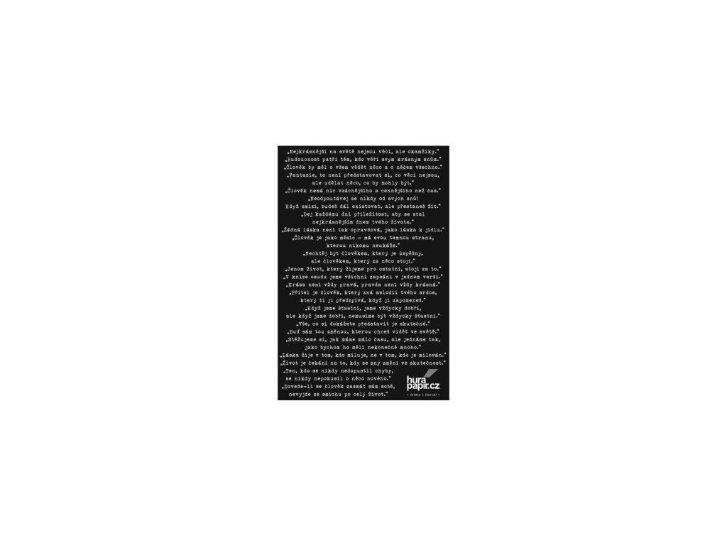 Hurá Papír - samolepky A5 / CITÁTY 1 / černé - Nejkrásnější na světě ...