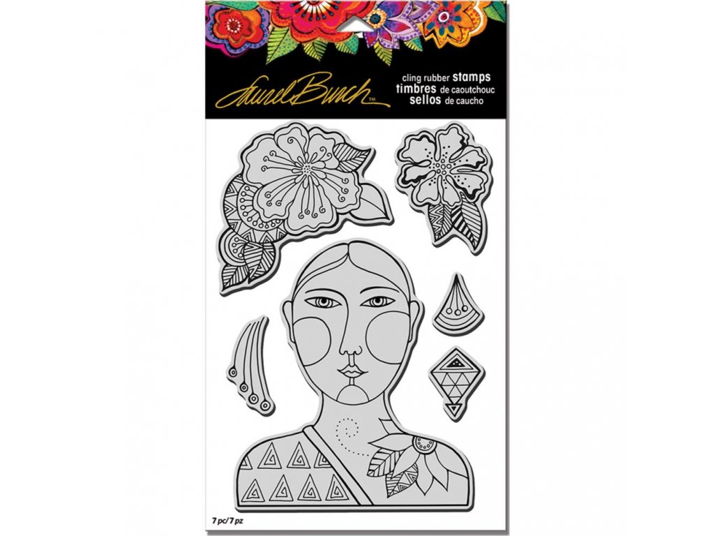 Stampendous - BLOSSOMING WOMAN - cling gumové razítko + maska