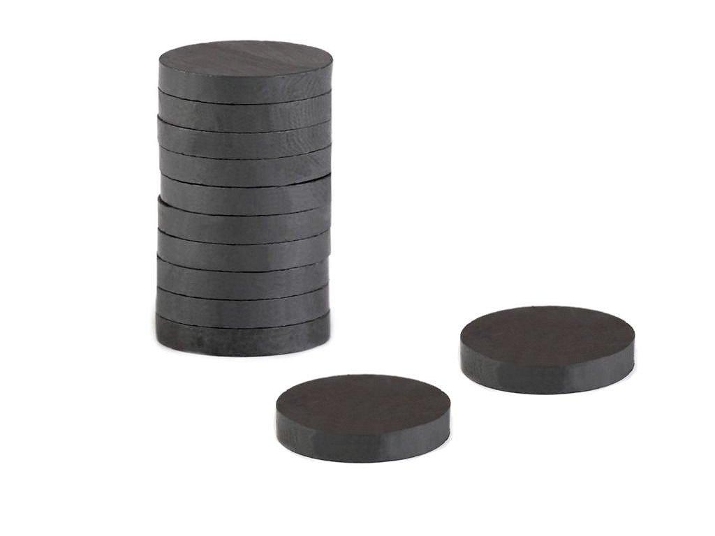 Feritové magnety Ø15 mm; 15 ks